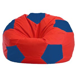 Бескаркасное кресло-мешок Мяч красно - синее 1.1-172