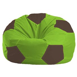 Бескаркасное кресло-мешок Мяч салатово - коричневое 1.1-165