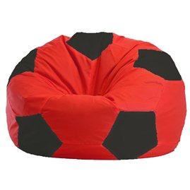 Бескаркасное кресло-мешок Мяч красно - чёрное