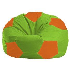Кресло-мешок Мяч салатово - оранжевое 1.1-163