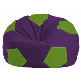 Кресло-мешок Мяч фиолетовый - салатовый М 1.1-31