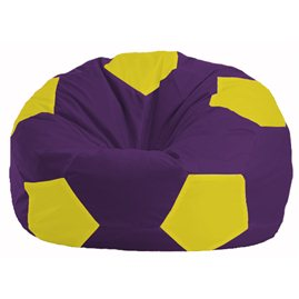 Кресло-мешок Мяч фиолетовый - жёлтый М 1.1-35