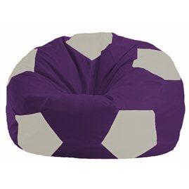 Кресло-мешок Мяч фиолетовый - белый М 1.1-36