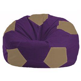 Кресло-мешок Мяч фиолетовый - бежевый М 1.1-70