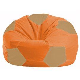 Кресло-мешок Мяч оранжевый - бежевый М 1.1-30