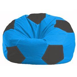 Кресло-мешок Мяч голубой - чёрный М 1.1-267