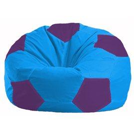 Кресло-мешок Мяч голубой - фиолетовый М 1.1-269