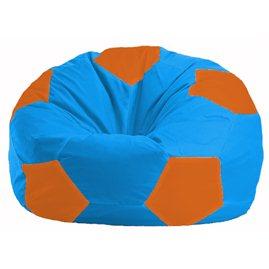 Кресло-мешок Мяч голубой - оранжевый М 1.1-282
