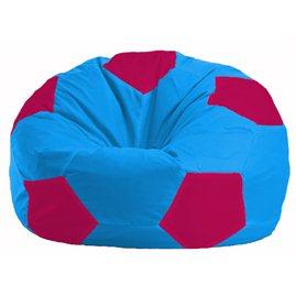 Кресло-мешок Мяч голубой - малиновый М 1.1-268