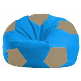 Кресло-мешок Мяч голубой - бежевый М 1.1-275
