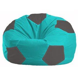 Кресло-мешок Мяч бирюзовый - тёмно-серый М 1.1-287