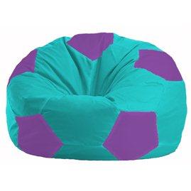 Кресло-мешок Мяч бирюзовый - сиреневый М 1.1-290