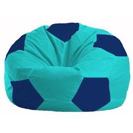 Кресло-мешок Мяч бирюзовый - синий М 1.1-291