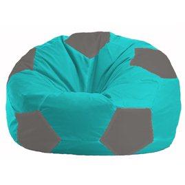 Кресло-мешок Мяч бирюзовый - серый М 1.1-292