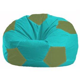 Кресло-мешок Мяч бирюзовый - оливковый М 1.1-288