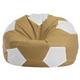 """Кресло-мешок """"Мяч Стандарт"""" бежево-белый"""