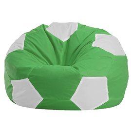 """Кресло-мешок """"Мяч Стандарт"""" зелено-белое"""