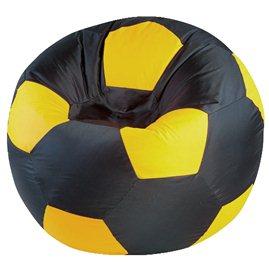 """Кресло-мешок """"Мяч Стандарт"""" черно-желтое"""
