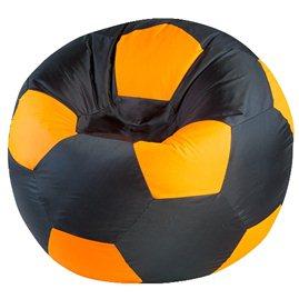 """Кресло-мешок """"Мяч Стандарт"""" черно-оранжевое"""