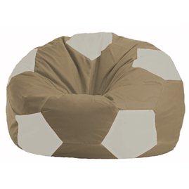 Кресло-мешок Мяч бежевый - белый М 1.1-98