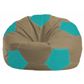 Кресло-мешок Мяч бежевый - бирюзовый М 1.1-98