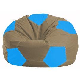 Кресло-мешок Мяч бежевый - голубой М 1.1-96