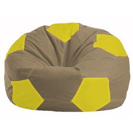 Кресло-мешок Мяч бежевый - жёлтый М 1.1-95