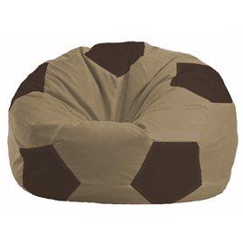 Кресло-мешок Мяч бежевый - коричневый М 1.1-93