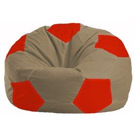 Кресло-мешок Мяч бежевый - красный М 1.1-92