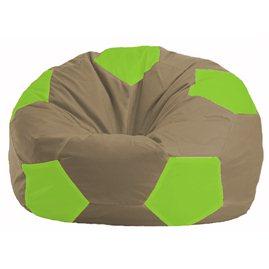 Кресло-мешок Мяч бежевый - салатовый М 1.1-88