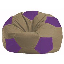 Кресло-мешок Мяч бежевый - сиреневый М 1.1-84