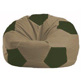 Кресло-мешок Мяч бежевый - тёмно-оливковый М 1.1-82
