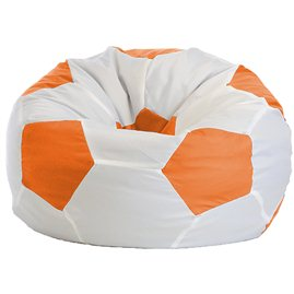 Кресло-мешок Мяч Стандарт бело-оранжевое