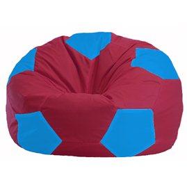 Кресло-мешок Мяч бордовый - голубой М 1.1-310