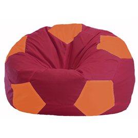 Кресло-мешок Мяч бордовый - оранжевый М 1.1-307