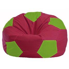 Кресло-мешок Мяч бордовый - салатовый М 1.1-305