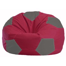 Кресло-мешок Мяч бордовый - серый М 1.1-303