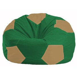 Кресло-мешок Мяч зелёный - бежевый М 1.1-237