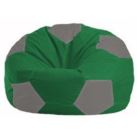 Кресло-мешок Мяч зелёный - серый М 1.1-239