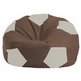 Кресло-мешок Мяч коричневый - белый М 1.1-316