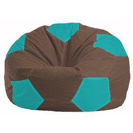 Кресло-мешок Мяч коричневый - бирюзовый М 1.1-317
