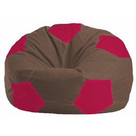 Кресло-мешок Мяч коричневый - малиновый М 1.1-331
