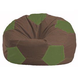 Кресло-мешок Мяч коричневый - оливковый М 1.1-323