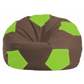 Кресло-мешок Мяч коричневый - салатовый М 1.1-325