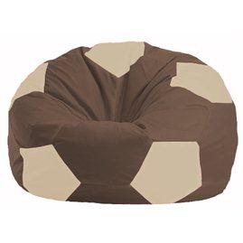 Кресло-мешок Мяч коричневый - светло-бежевый М 1.1-326