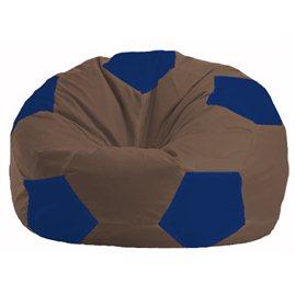 Кресло-мешок Мяч коричневый - синий М 1.1-328