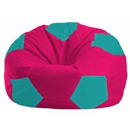 Кресло-мешок Мяч малиновый - бирюзовый М 1.1-383