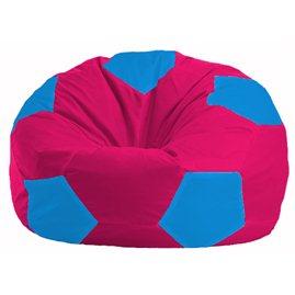 Кресло-мешок Мяч малиновый - голубой М 1.1-385