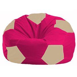 Кресло-мешок Мяч малиновый - светло-бежевый М 1.1-373