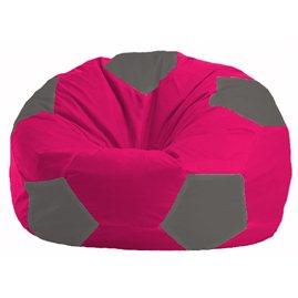 Кресло-мешок Мяч малиновый - тёмно-серый М 1.1-379